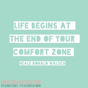 Intuition / Life begins at the end of your comfort zone