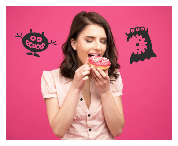 Én bid dessert og du udrydder ALT - Overspisning | KarolinaKærsner.com