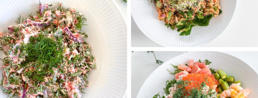 Salat med laks x 3